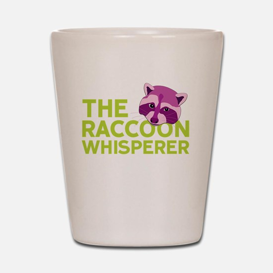 Raccoon Whisperer Shot Glass