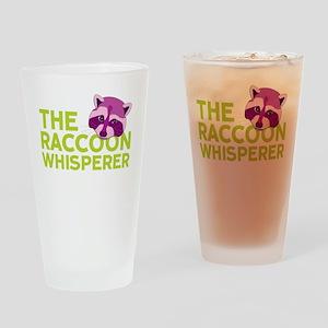 Raccoon Whisperer Drinking Glass