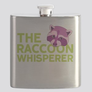 Raccoon Whisperer Flask