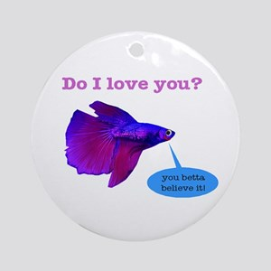 Betta Fish Ornament (Round)