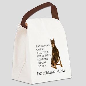 Doberman Mom Canvas Lunch Bag