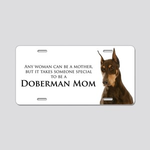 Doberman Mom Aluminum License Plate