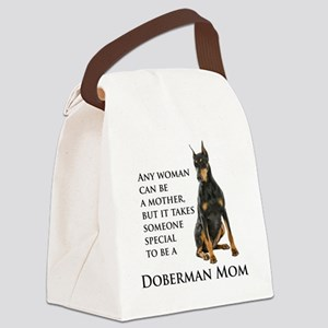 Doberman Mom Canvas Lunch Bag