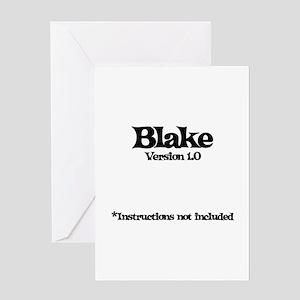 Blake Version 1.0 Greeting Card