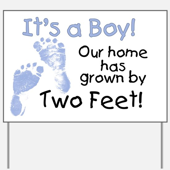 Our home has grown (boy) Yard Sign