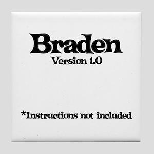 Braden Version 1.0 Tile Coaster