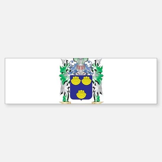 Mallett Coat of Arms - Family Crest Bumper Bumper Bumper Sticker