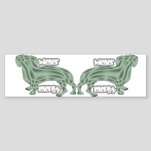 Wierner Energy Dachshund Bumper Sticker