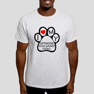I Love My Spinone Italiano Dog Light T-Shirt