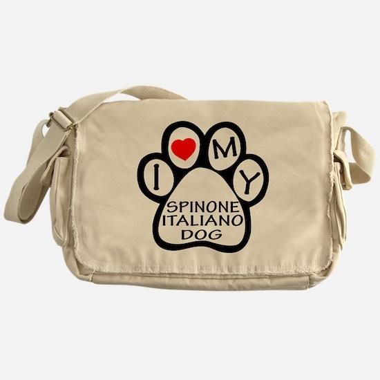 I Love My Spinone Italiano Dog Messenger Bag