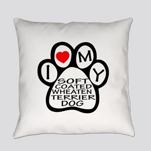I Love My Soft Coated Wheaten Terr Everyday Pillow