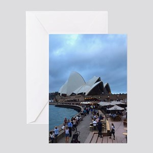 My Evening In Sydney Greeting Cards