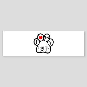 I Love My Shih Tzu Dog Sticker (Bumper)