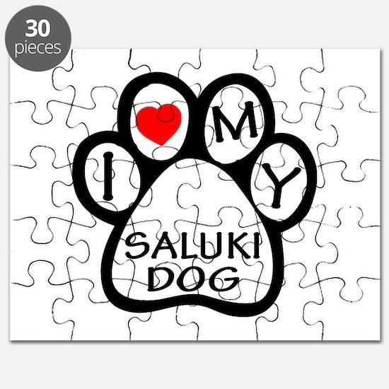 I Love My Saluki Dog Puzzle