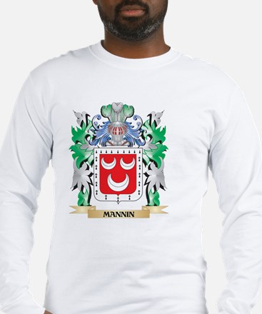 Mannin Coat of Arms - Family C Long Sleeve T-Shirt