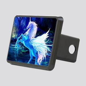 Glass Unicorn Rectangular Hitch Cover