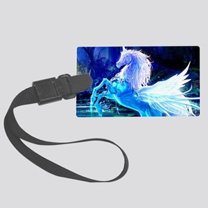 Glass Unicorn Large Luggage Tag