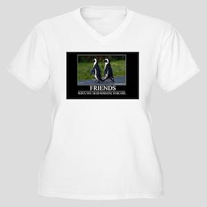 Friends Women's Plus Size V-Neck T-Shirt