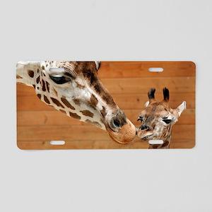 Giraffe_20171201_by_JAMFoto Aluminum License Plate