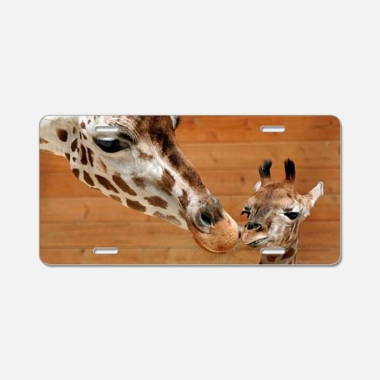 Giraffe_20171201_by_JAMFoto Aluminum License Plate
