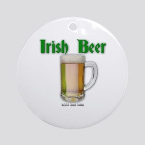Irish Beer Ornament (Round)