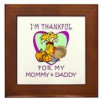 Thanksgiving Kids Framed Tile