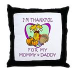 Thanksgiving Kids Throw Pillow