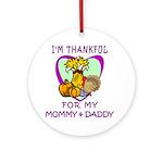 Thanksgiving Kids Ornament (Round)