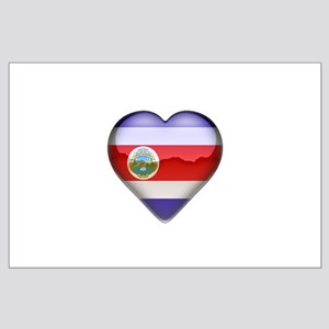 Costa Rica Heart Large Poster