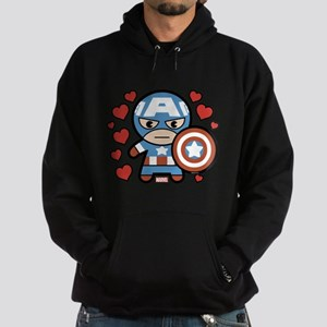 Captain America Hearts Sweatshirt