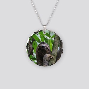 Sloth_20171101_by_JAMFoto Necklace Circle Charm