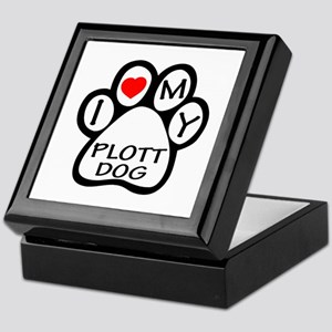 I Love My Plott Dog Keepsake Box