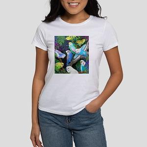 Budgerigars in Ferns T-Shirt
