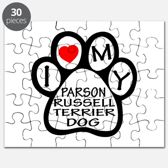 I Love My Parson Russell Terrier Dog Puzzle