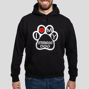 I Love My Otterhound Dog Hoodie (dark)
