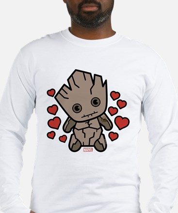 Groot Hearts Long Sleeve T-Shirt
