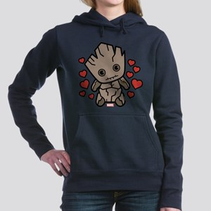 Groot Hearts Women's Hooded Sweatshirt