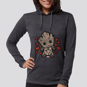 Groot Hearts Womens Hooded Shirt