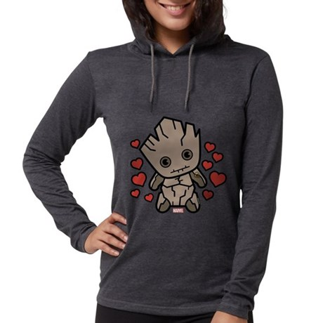 Groot Hearts Womens Hooded Shirt