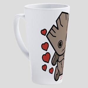 Groot Hearts 17 oz Latte Mug