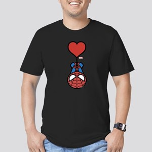 Spider-Man Heart Men's Fitted T-Shirt (dark)