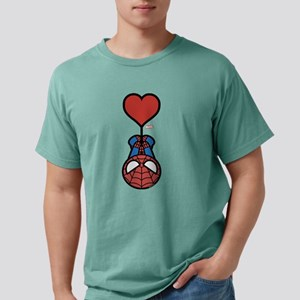 Spider-Man Heart Mens Comfort Colors Shirt