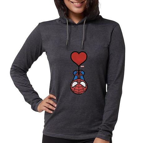 Spider-Man Heart Womens Hooded Shirt