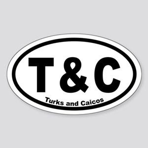 Turks And Caicos Oval Bumper Sticker