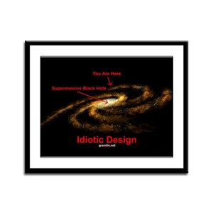 Idiotic Design Framed Panel Print