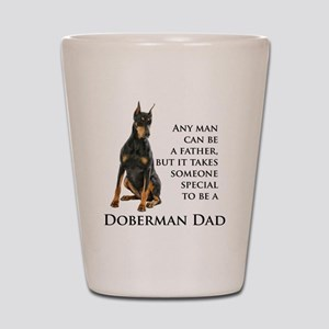 Doberman Dad Shot Glass