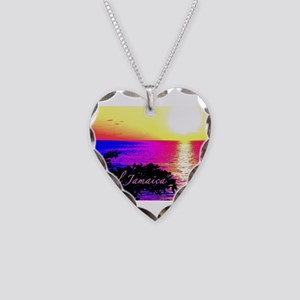 Negril, Jamaica Necklace Heart Charm
