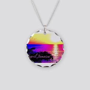 Negril, Jamaica Necklace Circle Charm