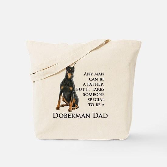 Doberman Dad Tote Bag
