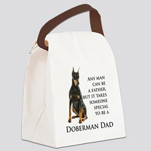 Doberman Dad Canvas Lunch Bag